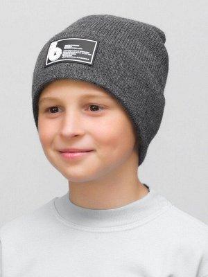 Шапка зимняя для мальчика  (Цвет серый)
