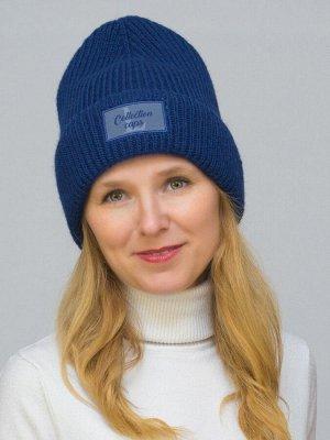 Шапка зимняя женская L-Collection (Цвет синий)