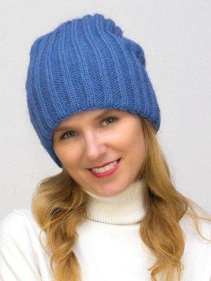 Шапка зимняя женская Жасмин (Цвет светло-синий)