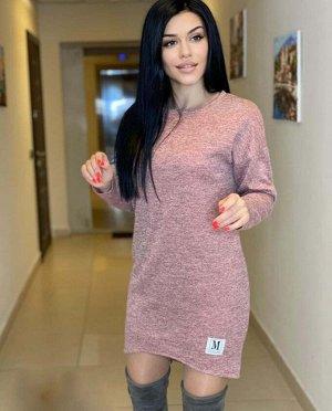 Платье вязанный трикотаж