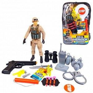Игровой набор JUNFA военный в рюкзачке, 20 предметов359