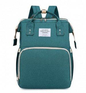Сумка-рюкзак для мам, с выдвижной кроваткой для ребенка, цвет зеленый