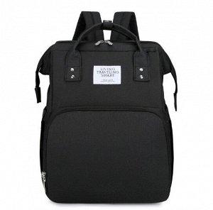 Сумка-рюкзак для мам, с выдвижной кроваткой для ребенка, цвет черный