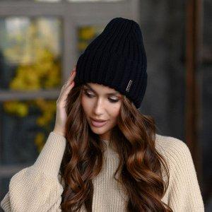 Вязанная шапка Маниша цвет - черный