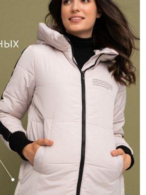 """Куртка зимн. 2в1 """"Копенгаген"""" для беременных и слингоношения, молочный"""