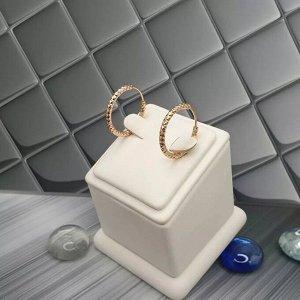 Серьги Серьги Xuping Материал :медицинский сплав Цвет позолота  Диаметр 2см Ширина 0,2мм