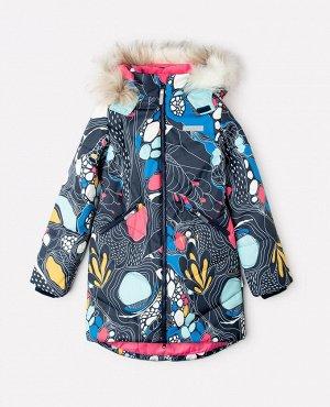Пальто зимнее для девочки Crockid ВК 38067/н/2 ГР