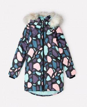 Пальто зимнее для девочки Crockid ВК 38067/н/1 ГР