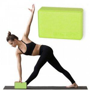 Блок для йоги MD Buddy MD1219 green