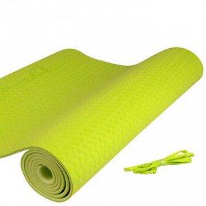 Коврик для йоги ТПЭ (183*61*0,6 см) MD Buddy MD9012