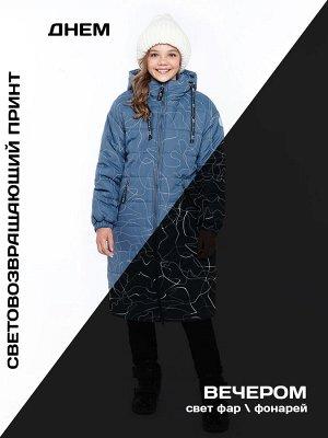 Пальто 6з4821 джинсовый