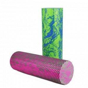 Ролик для йоги (розово-серый) 45 см MD Buddy MDF055