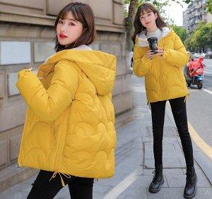 Женская демисезонная куртка, цвет желтый