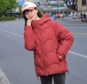 Женская демисезонная куртка, цвет красный