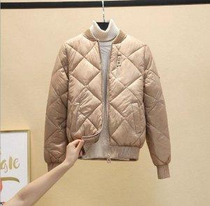 Женская куртка-бомбер, цвет хаки