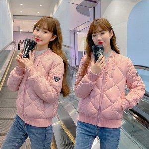 Женская куртка-бомбер, цвет розовый
