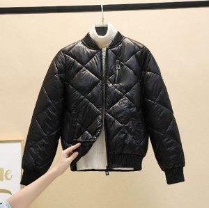 Женская куртка-бомбер, цвет черный
