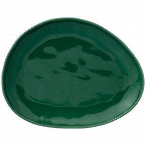 "Тарелка обеденная ""meadow"" 29*23 см зеленая"