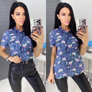 Джинсовая рубашка, без выбора цвета