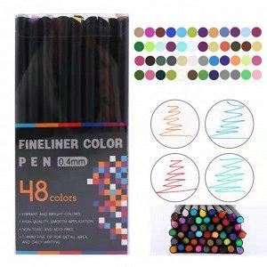 Набор акварельных линеров FINELINER COLOR PEN, 0.4 мм / 48 цветов