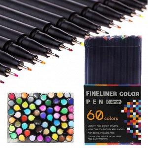 Набор акварельных линеров FINELINER COLOR PEN, 0.4 мм / 60 цветов