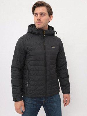 Демисезонная мужская стеганая куртка с капюшоном
