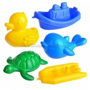 Набор для купания (дельфин,черепаха,уточка,кораблик,лодочка)