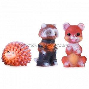 Набор Лесные животные  (Ёжик, Енот, Медвежонок )