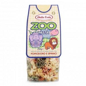 """Мак.изделия без яиц """"DallaCosta"""" со шпинатом и томатами """"Зоопарк"""" 0,25кг."""