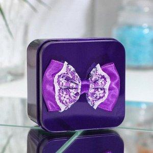 Мыльные розочки, фиолетовые и белые, набор 4 шт.