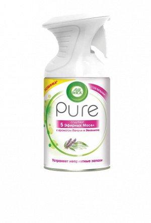 Освежитель воздуха AirWick Pure 5 эфирных масел, пачули и эвкалипт, 250 мл