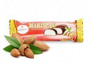 Марципановый батончик, содержание миндаля 26% в темном шоколаде 50  г.  Срок годности 12 месяцев с даты производства.