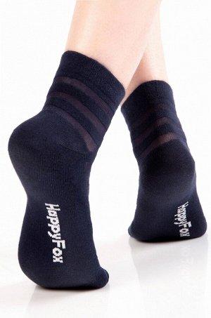 Женские носки в капроновую полоску