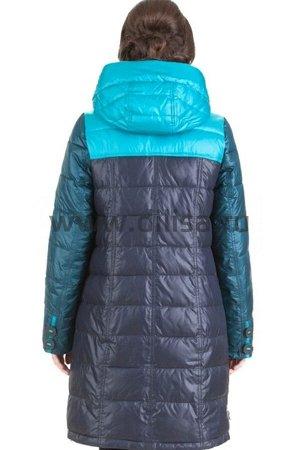 Пальто без меха Mishele 16117-1_Р (Бирюза D12)