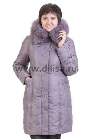 Пальто с мехом Fultani 183_Р (Сирень D138)