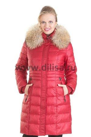 Пальто с мехом Mishele 9917-1_Р (Красный D8)