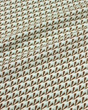 """Штапель """"Арабеск"""" цв.коричневый/мятный, ш1.47м, вискоза-100%, 100гр/м.кв"""