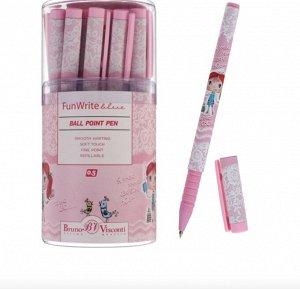 Ручка шариковая FunWrite «Девочка», узел 0.5 мм, синие чернила, матовый корпус Silk Touch