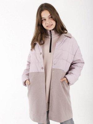 101349/1 (сиреневый) Пальто для девочки