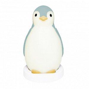 Беспроводная колонка+будильник+ночник пингвинёнок Пэм (PAM) ZAZU. 0+. Cиний.