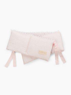 Бортик в кроватку/ pink