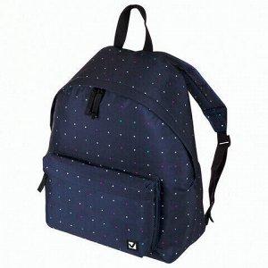 Рюкзак BRAUBERG универсальный, сити-формат, темно-синий, Полночь, 20 литров, 41х32х14 см, 224754