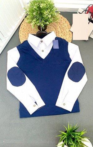 Рубашка ОГ 78см на локтях отсутствуют накладки