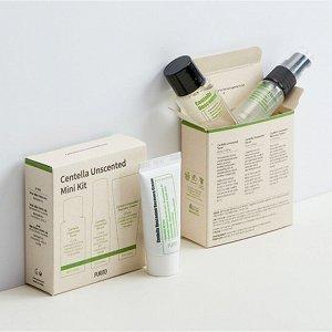 Мини-набор  успокаивающих  средств (Тонер30мл+ Серум15мл+ Крем12мл) Centella Unscented Line Travel Kit
