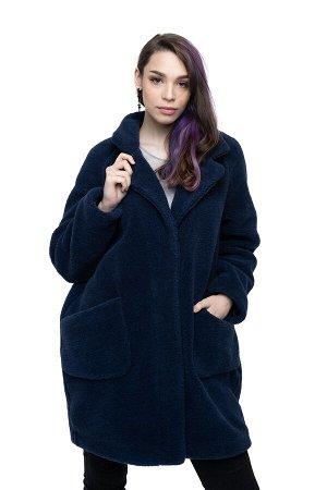 Пальто THE BARREL цвет Индиго