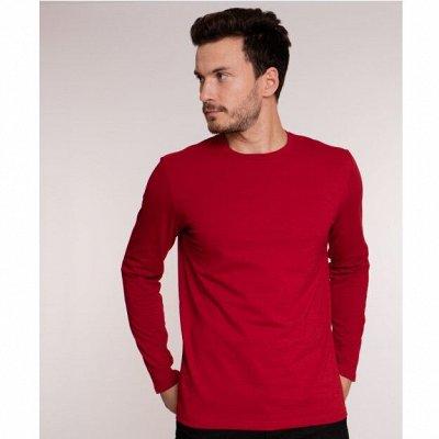 Мужские поло и футболки 100% хлопок🔥 Есть большие размеры — Футболки с длинным рукавом