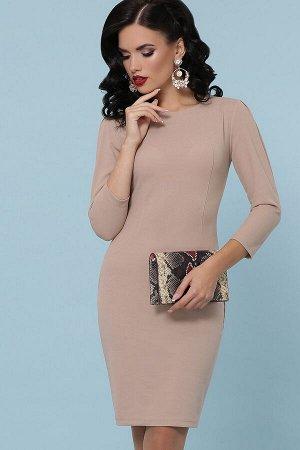 Платье Модеста д/р бежевый p31256 от Glem