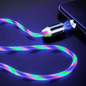 Магнитный USB кабель светящийся