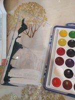 """Акд-009 Акварель Disney """"Холодное сердце-2"""" 18 цветов, в пластике, б/к"""
