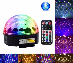 Диско шар Диско шар (MP3, Bluetooth, USB, SD) - светомузыка. Данная модель имеет кардинальное отличие от аналогичных шаров - возможность подключения музыки через стандарт Bluetooth. Вы с легкостью смо